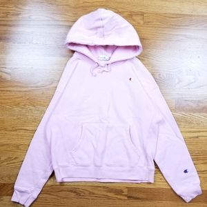 Champion Reverse Weave Light Pink Blank Hoodie